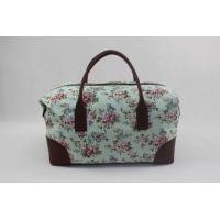 Buy cheap Portable Floral Print Women'S Canvas Travel Bag Multifunction Hand Carry With Printing Logo product