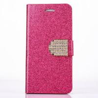 Buy cheap Luxury Bling Leather Case with Diamond for iPhone 6 4.7inch 5.5inch from wholesalers