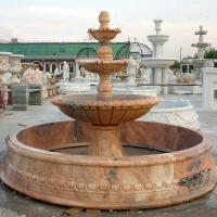 Buy cheap Large Outdoor Water Feature Custom Red Marble Stone Garden Water Fountain With Pool from wholesalers