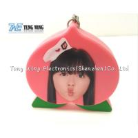 Buy cheap Pink Peach Shaped Music Keychain Custom Talking Keychain With Sound from wholesalers