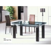 Buy cheap Tempered glass dining table from wholesalers