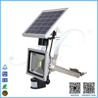 Buy cheap multi-functional 5w solar led floodlight PIR sensor anti-theft alarm device remote control from wholesalers