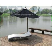 Buy cheap Comfortable Folding Outdoor Patio Sun Loungers With White Cushion In Lake from wholesalers