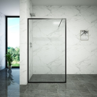 Buy cheap Tempered Glass Dry Wet Partition Bathroom Shower Doors from wholesalers