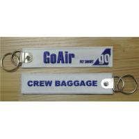 Buy cheap Go Air Fly Smart Go Crew Baggage Fabric Key Chain Aviation Tags Key FOB Embroidered Key Chain from wholesalers