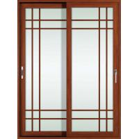 Buy cheap White, red wood 2.0mm profile thickness aluminum sliding glass doors for study room from wholesalers