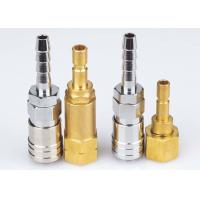 Buy cheap Korean Type Pneumatic Quick Release Coupling , LSQ-DD Nickle Plated Pneumatic Connectors from wholesalers