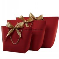 Buy cheap Laminated Kraft Paper Shopping Bags , Customized Paper Gift Bags With Handles from wholesalers