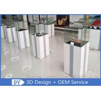 Buy cheap MDF Glass Jewelry Display Case With Light / Museum Display Pedestals product