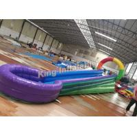 Buy cheap Colorful U Shaped Kids Water Slide PVC Tarpaulin For Playground / Amusement Park from Wholesalers