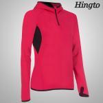 Buy cheap OEM ODM Red , Black windproof hooded sweatshirt for Womens / Ladies from wholesalers