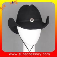 Buy cheap 4420355 Sun Accessory customized  winner  fashion wool felt west cowboy  hats,unisex hats and caps wholesaling from wholesalers