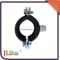 Buy cheap Zinc Plated Cast Iron Pipe Clamps With Rubber And M8 / M10 Nut And Plastic Anchor from wholesalers