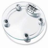 Buy cheap ROHS Transparent  Safety tempered Glass  Bathroom Weight Scale with LCD from wholesalers