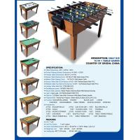 Buy cheap Popular 10 In 1 Multi Game Table Wood Grain Color With Different Game Toy from wholesalers