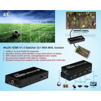 Buy cheap  Switch 3x1 Support 4Kx2K With MHL function and 5.1/2.1 Audio Channel from wholesalers