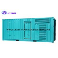 Buy cheap Standby Power 1000kVA 800kW Container Electric Start Power Generator product