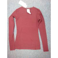 Buy cheap Ladies Long Sleeve Cotton with Spandex T-shirt from wholesalers
