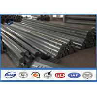 HDG Galvanized Steel Pole 3.5m ~ 15m Height Options galvanized metal tubing