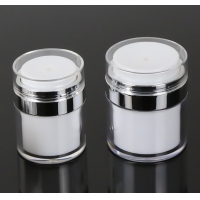 Buy cheap Empty Airless Refillable Cosmetic Cream Jars Shatterproof product