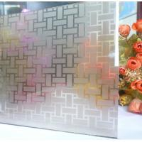 Buy cheap Copper Free Frosted Acid Etched Glass 8mm 6mm , Grey Pink Non Glare Acid Etching Glass from wholesalers