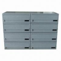 Buy cheap Combined type letter box with lock, metal box, powder coating, used in apartment from wholesalers