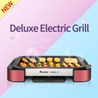 Buy cheap Electric Grill Pan with Non-stick Surface BBQ Griddle FST-53A red with  aluminium alloy from wholesalers