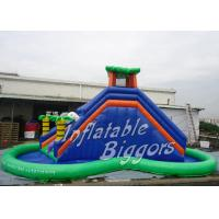Buy cheap Cannon PVC Residential Inflatable Water Slides Amusement Park , Blow Up Slides from wholesalers