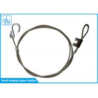 Buy cheap Diameter 1.5 mm Stainless Steel Wire Rope Safety Lanyards With S Hook from wholesalers