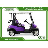 China Purple And Black 2 Passenger Electric Car 48V With 1 Year Warranty on sale