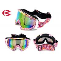 Buy cheap Customzied Strap Cool Motorcycle Riding Goggles , Motorcycle Glasses Transition Lenses from wholesalers