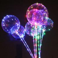 Buy cheap Birthday Party Air Confetti Balloon Helium Transparent Led Latex Balloon Sticks Stand Decoration Light from wholesalers