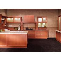 Buy cheap Classic Wooden Grain Pvc Classic Design Kitchen Cabinet With Visible Handle from wholesalers