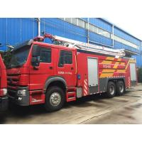 Buy cheap Howo Fire Rescue Truck Water Tower Fire Truck 10 Wheel High Loading Capacity from wholesalers