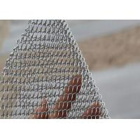 Buy cheap Incombustible Silver Chain Mesh Curtains Aluminum Alloy Material UV Resistant from wholesalers