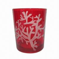 Buy cheap 7 x 8cm Candle Holder with Red Color and Coral from wholesalers