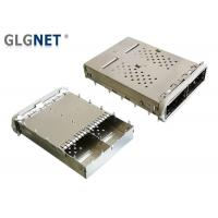 Buy cheap QSFP14 Connector 2 Ports QSFP Cage Copper Alloy With EMI Gasket Mates from wholesalers