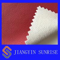 Buy cheap Eco - Friendly Red Car Seat Covers Leather / Auto Upholstery Leather from wholesalers