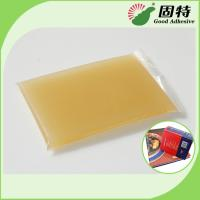China Light Amber Solid Gums Jelly Hot Melt Glue Adhesive For Hardcover Animal and Box on sale