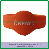 Buy cheap Hot sell printing Logo 13.56mhz RFID silicone wristband with  1K s50 chip from wholesalers