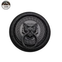 Buy cheap Round Jacket Custom 3D Rubber Patches , Embroidered Decorative Patches For Clothes from wholesalers