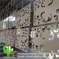Buy cheap hollow pattern 2.5mm aluminum cladding panel with pvdf finish for facade curtain wall solid panel single panel product
