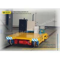 Buy cheap Warehouse Transferring Flat Rail Guided Vehicle , Cargo Heavy Duty Cart Trolley from wholesalers
