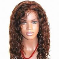 China Affordable Real Human Lace Wig, Dark Color, Available in Any Textures and Lengths on sale