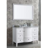Buy cheap Free Standing Bathroom Vanity Cabinets Furniture with White Glossy Finish from wholesalers