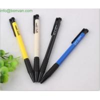 cheap price low cost plastic pen,office click ball pen, grip simple ball pen