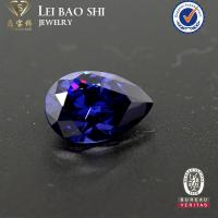 Buy cheap wholesale price Synthetic Tanzanite Color Pear shape brilliant cut faceted cz gemstone from wholesalers