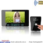 Buy cheap Tamper alarm  Wireless unlock control video intercom door phone with memory from wholesalers