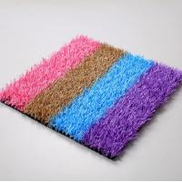 Buy cheap Safety Soft Low Cost Coloured Artificial Grass Playground Surface from wholesalers