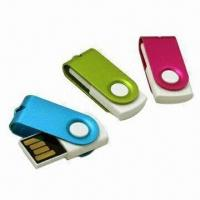 Buy cheap USB Flash Drives with Clip, 512MB to 32GB Memory Capacity, Supports Plug-and-play Function product